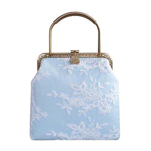 Spitze-Entwurfs-Handtaschen-Frauen-Münzen-Geldbeutel-großes Geschenk Retro- Art-Mappen-blaue Tasche (Spitzen-geldbeutel-handtasche)
