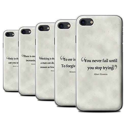 Stuff4 Hülle / Case für Apple iPhone 7 / Henry Ford Muster / Berühmte Zitate Kollektion Pack 9pcs
