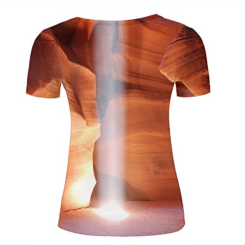 qianyishop Homme 3D Print Caves-sunnyGraphic T Shirts Couple Tees C