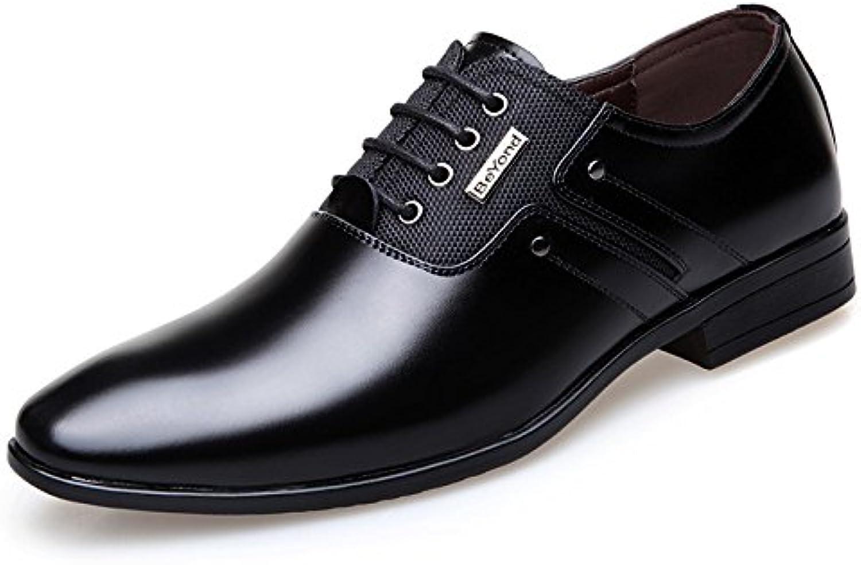 LEDLFIE Herren Leder Formelle Stiefel Herren  Billig und erschwinglich Im Verkauf