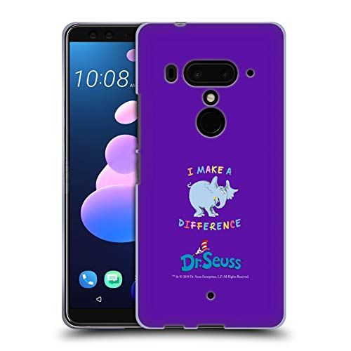 Head Case Designs Offizielle Dr. Seuss I Make A Difference Horton Kindness Soft Gel Huelle kompatibel mit HTC U12+ / U12 Plus (Seuss Worte Dr)