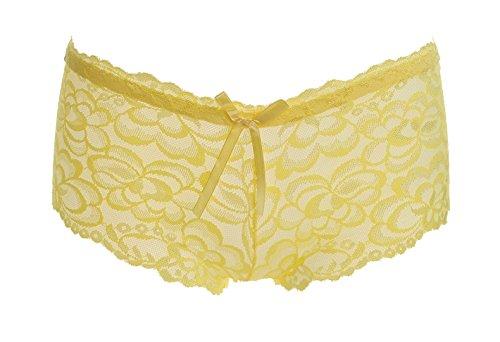 9e10185d308f8d ZHANGYONG Flaches Spitze sexy Unterwäsche Frauen Versuchung Xiaoping  Unterwäsche, Weiß Gelb Weiß Gelb