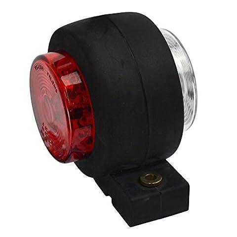 Trailer seitliche Begrenzungsleuchte LED Licht / Lampe rot & weiß 12V oder 24V TR168