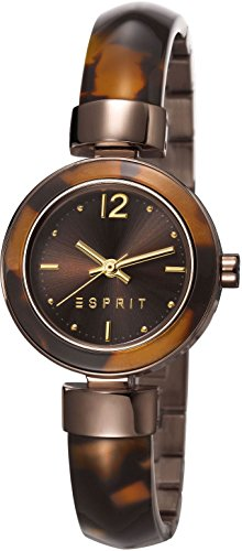 ESPRIT ES107712004 - Orologio da polso donne, diversi materiali, colore: marrone