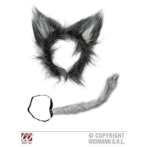 Imagen de accesorios disfraz de lobo cola y orejas de lobo de peluche