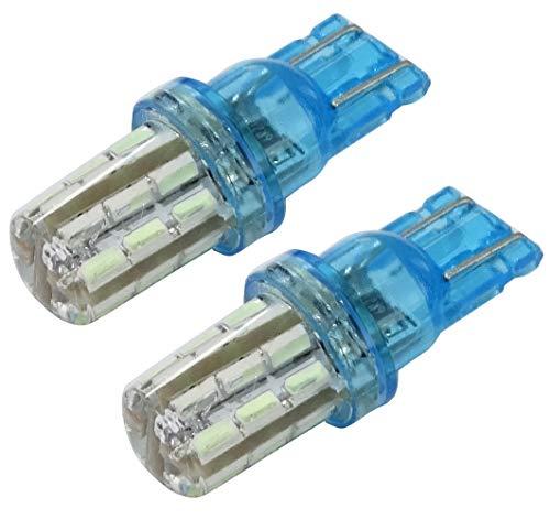 AERZETIX: 2X Ampoule T10 W5W 12V 24LED SMD Silica Gel Bleu Ciel veilleuses éclairage intérieur seuils de Porte plafonnier Pieds Lecteur de Carte Coffre Compartiment Moteur C41085