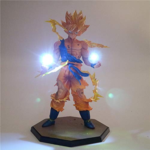 Anime Dragon Ball Z Son Goku Led Light Super Saiyan Pvc Action Figure Collectible Modelo Toy Night Light For Kids Gift Lámpara De Decoración