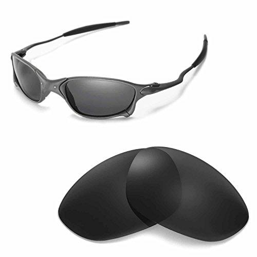 Walleva Ersatzgläser für Oakley X Metal XX Sonnenbrille - Mehrfache Optionen (Schwarz - polarisiert)