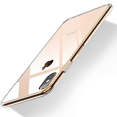 Humixx iPhone XS Max Hülle, Hochwertigem Stoßfest, Anti-Fingerabdruck, Anti-Scratch, Anti-Gelb Hülle Bumper Cover Schutz Tasche Schale Hardcase für iPhone XS Max-Transparent.