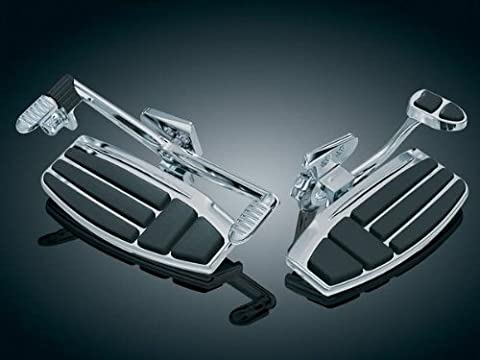 Chrome Kuryakyn Driver Floorboard Kit For GL1800 - 4038 by Kuryakyn