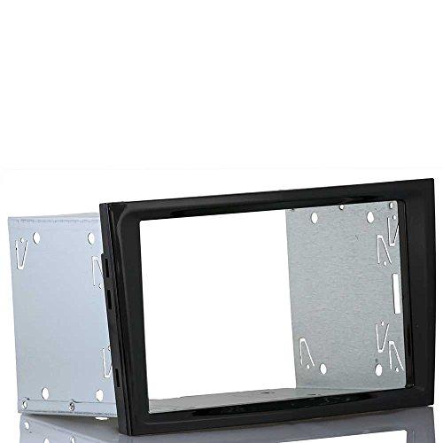 Einbauset passend für OPEL Astra H, Corsa D (Doppel 2 DIN Radioblende piano black/ schwarz glänzend + Einbaurahmen)