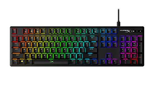 HyperX HX-KB6RDX-US Alloy Origins Tastiera Gaming Meccanica RGB, Switch HyperX Red (US layout)