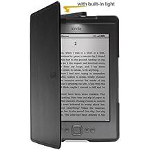 Funda de cuero con luz Amazon para Kindle, color negro (sólo sirve para el Kindle)