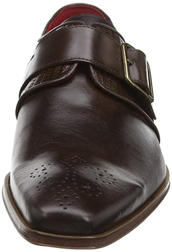 Jeffrey West  J866 Scarface, Bottes homme Brown (Dk Brown Iguana Lizard Trim)