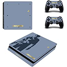 Hytech Plus Uncharted 4 Special Edition Theme Sticker For PS4 Slim Console & 2 Controllers