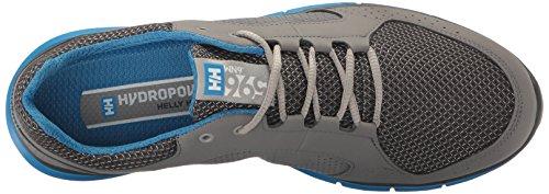 Helly Hansen Ahiga V3 Hydropower, Chaussures de Voile Homme Mid Grey / Ebony / Racer Blue