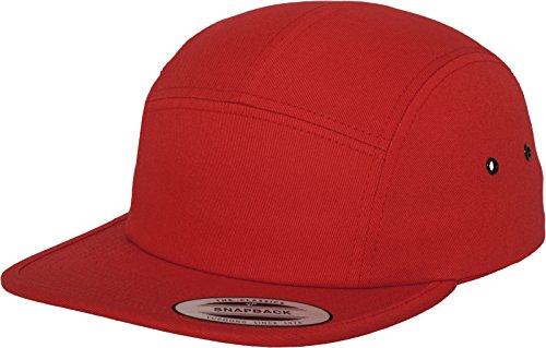 Red 5 Panels (Flexfit Classic Jockey Cap, Red, one Size)