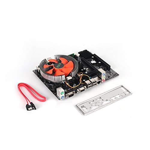 Pudincoco G41 PC de sobremesa Placa Principal LGA775 Conjunto de Cuatro núcleos E5430 2.66G CPU + 4G Memoria + Ventilador silencioso Modificación de la computadora Suministros