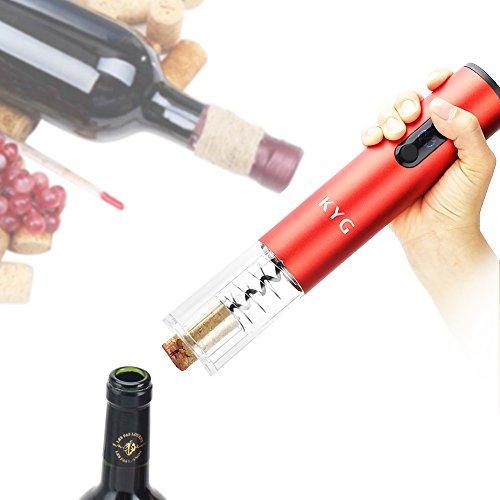 KYG Abrebotellas de vino Abrelatas sacacorchos eléctrico Abridor automático de pila 4 x AA (Sin plias)