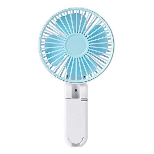 ❤Chaunce Tragbare USB Wiederaufladbare Regenschirm Hängen Fan mit Ständer Handheld Schreibtisch Mini Folding Fan Luftkühler Kühlung Für Büro Outdoor Travel 1200 mAh Batterie