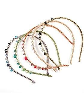 Vococal - 5 piezas Diadema Tocado de Cristal Decorativo Horquilla de Pelo Accesorios para Cabello Mujer