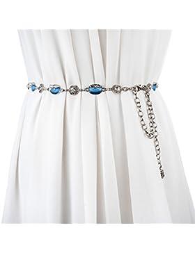 Moda,Salvajes,Rhinestone,Cadenas En La Cintura Del Metal Del/Cristal,Decoración,Cinturón