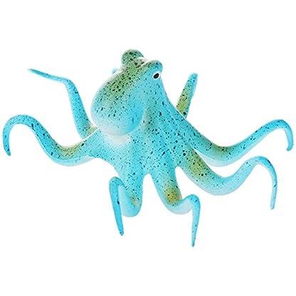 SODIAL(R) Vivarium Little Turtle Habitat Lake Terrapin Reptile Aquarium Tank with Platform Plants Decor blue Octopus: 11… 1
