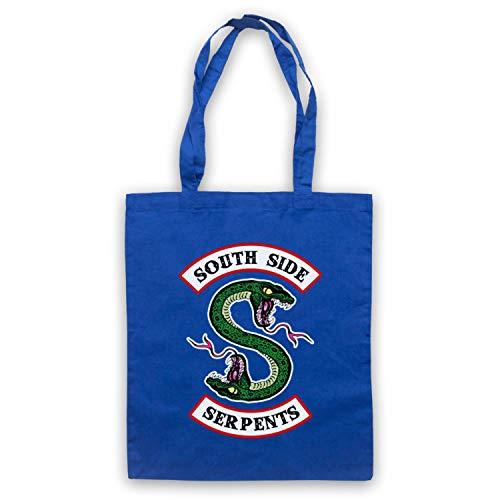 Inspired Apparel Inspiriert durch Riverdale South Side Serpents Two Headed Snake S Logo Inoffiziell Umhangetaschen, Blau (Two Headed Snake)