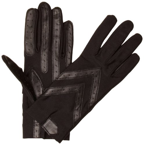 isotoner-womens-original-spandex-gloves-black-one-size