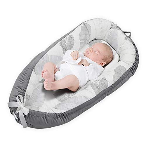 AOLVO Réducteur de Lit Bébé,Couffin de Voyage Portable,Diminution de Lit pour Bébé,100% Coton - 80cm x 50cm