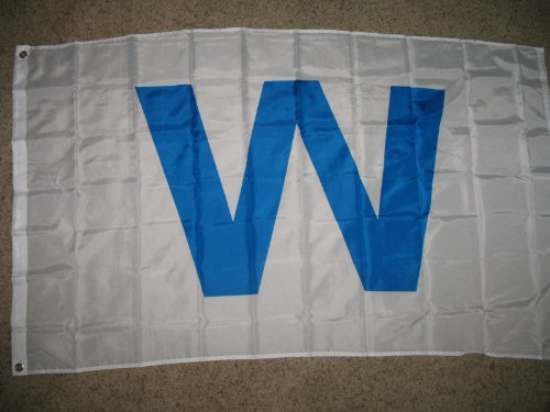 3x5 Light Blue W Flag Chicago Cubs Win Sports Banner Outdoor Baseball Pennant