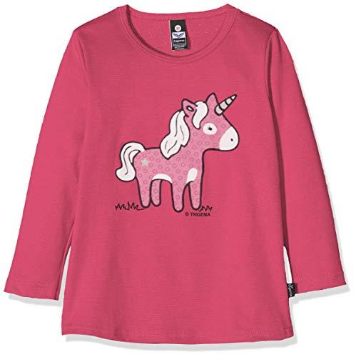 Trigema Unisex Baby 102535019 T-Shirt, Violett (Hibiskus 038), (Herstellergröße: 80)