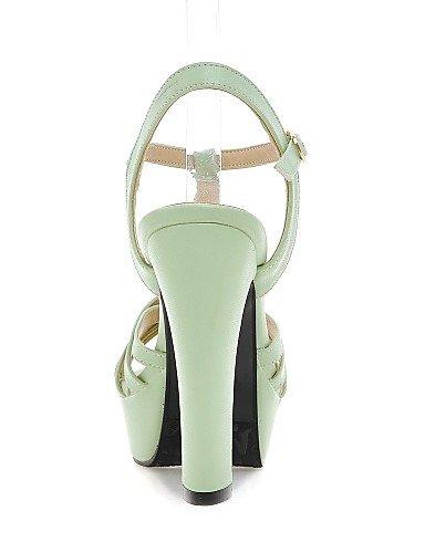 UWSZZ IL Sandali eleganti comfort Scarpe Donna-Sandali-Casual-Tacchi-Quadrato-Finta pelle-Nero / Verde / Rosa / Beige Pink