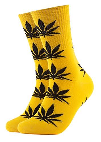 Calcetines amarillos de vestir