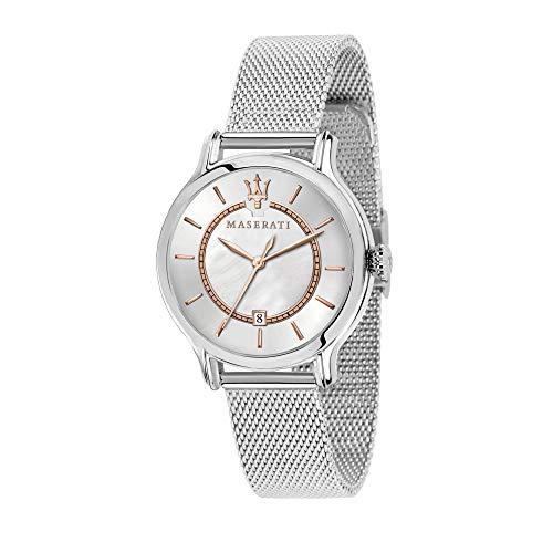 MASERATI Reloj Analógico para Mujer de Cuarzo con Correa en Acero Inoxidable R8853118509