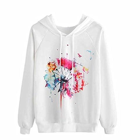 2017 Herbst Damen Hoodie Sweatshirt Neu Ankunft, Artsy gedruckte muster Mit Kapuze Sweatshirt Süß Stil Langarmshirt Kapuzenpulli Mantel Tops (S,