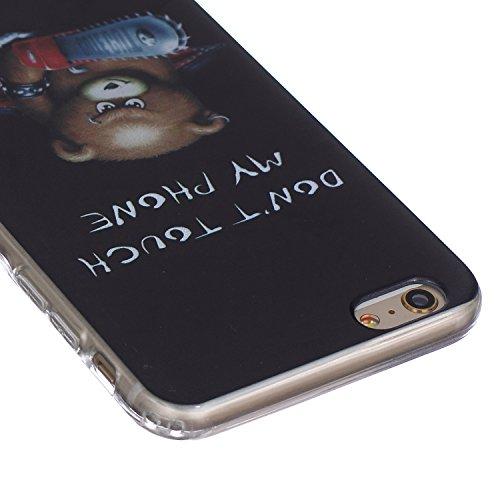 iPhone 6S plus Hülle,iPhone 6S plus Case, iPhone 6 plus Silikon Cover - Felfy Ultra Slim Klare Transparent Gel Klar Crystal Durchsichtig Flexible Elastisch Biegsam weißer Schmetterling Muster Schutzhü Braun Bär