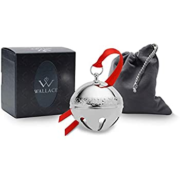 49th Edition Christmas Decoration and Ornament for Christmas Tree and Mantle Piece 7 cm Wallace Bauble 2019 Silver Plated