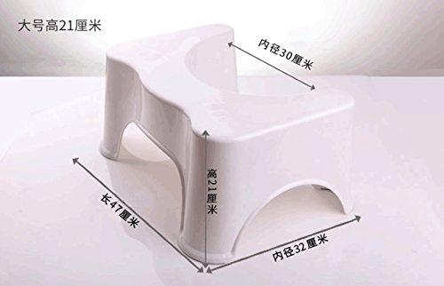 HYP-Ergonomische Toilettenhocker Toilettenhocker ErwachseneBadezimmer dicker wc Kissen Sitzbank?Beige mattress stool