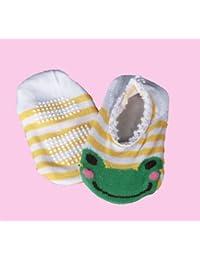 Baby Laufsocken 'Frosch gelb' Babykleidung - Babysocken