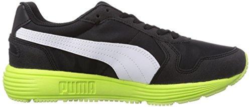 Puma Future ST Runner Unisex-Kinder Sneakers Schwarz (black-white-sharp green 04)