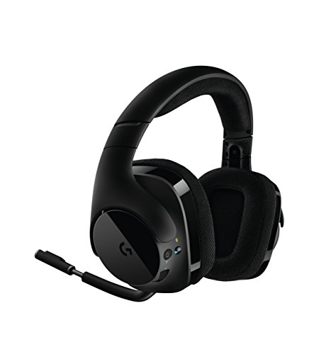 Logitech g533 cuffie da gioco, audio surround wireless dts 7.1