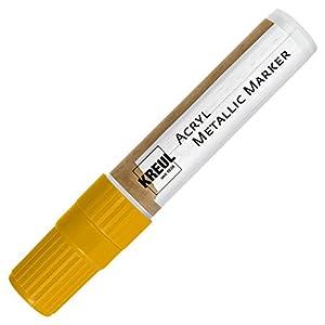 KREUL 46251-Acrílico Metalizado Marcador con Punta biselada, XXL, 15mm, Amarillo
