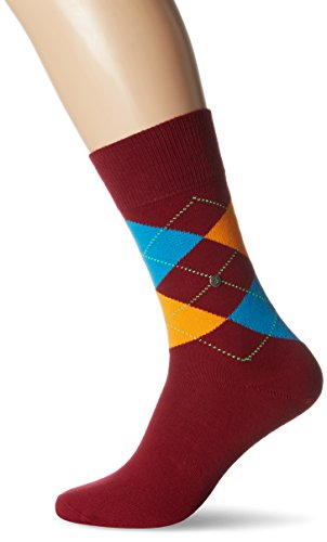 Burlington Herren Socken King Mehrfarbig (burgund 8011)