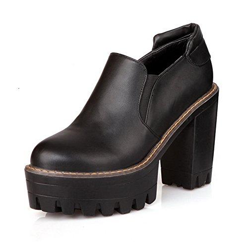 BalaMasa, punta arrotondata, altezza tacco alto, in gomma, motivo: scarpe Black