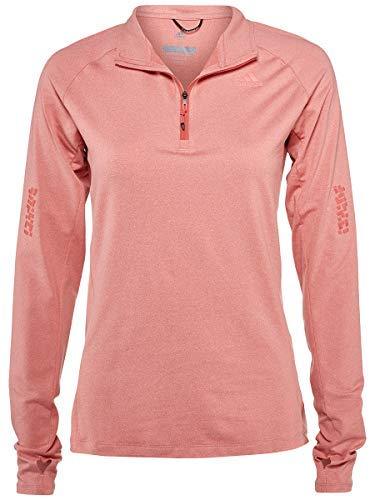 adidas Sport Performance Women's Supernova 1 2 Zip Sweatshirt, Trace Scarlet, Colored Heather, XS -