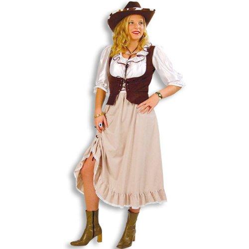 PARTY DISCOUNT NEU Damen-Kostüm Western-Lady, Kleid mit Weste Gr. 38