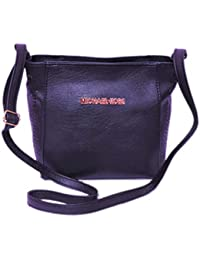 MITHHI - Royal Black Leather Matte Finish Handbag With 3 Compartments (Same As Shown In Image)