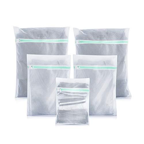 Premium Wäschenetz (5er-Set) für Waschmaschine - ideal für empfindliche Dessous, BH und Schuhe - Überzeugende Qualität - Hochwertige Wäschesäcke - Wäschenetze Set mit 2 Jahren Garantie (Trockner Bh)