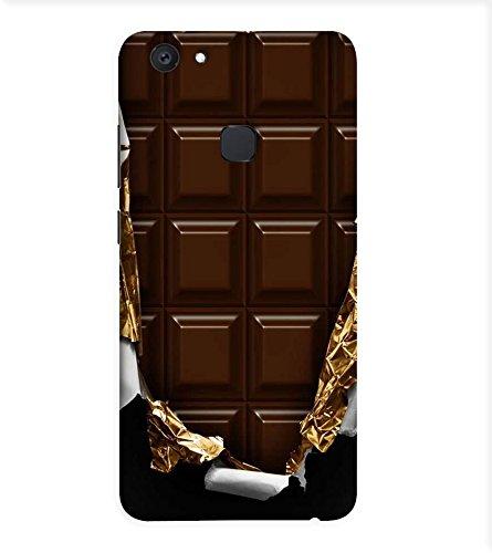 OBOkart Chocolate design 3D Hard Polycarbonate (Plastic) Designer Back Case Cover for vivo V7+ :: vivo V7 Plus :: vivo...